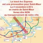 Arc Express: Non au transpercement de Saint-Maur. www.berrios.fr